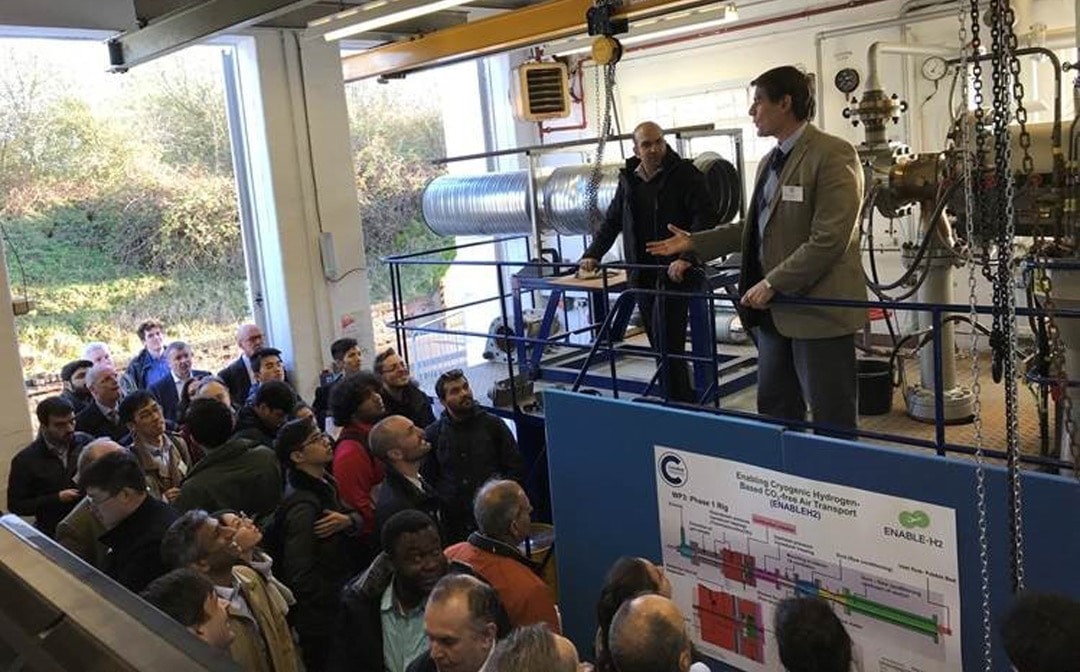 Figure 1: Inauguration of the Low Emissions Hydrogen Combustion Facility of Cranfield University during the Aviation and Environment Conference. Cranfield University, 2019.
