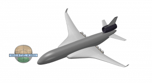 Figure 1: Down selected short range aircraft concepts – Cobalt Blue - Max Synergy concept (Upper image) and Modified conventional aircraft based on the A321 Neo with LH2 tank over fuselage - low risk option (Lower image)(Ref- P. Rompokos, et.al 2020)
